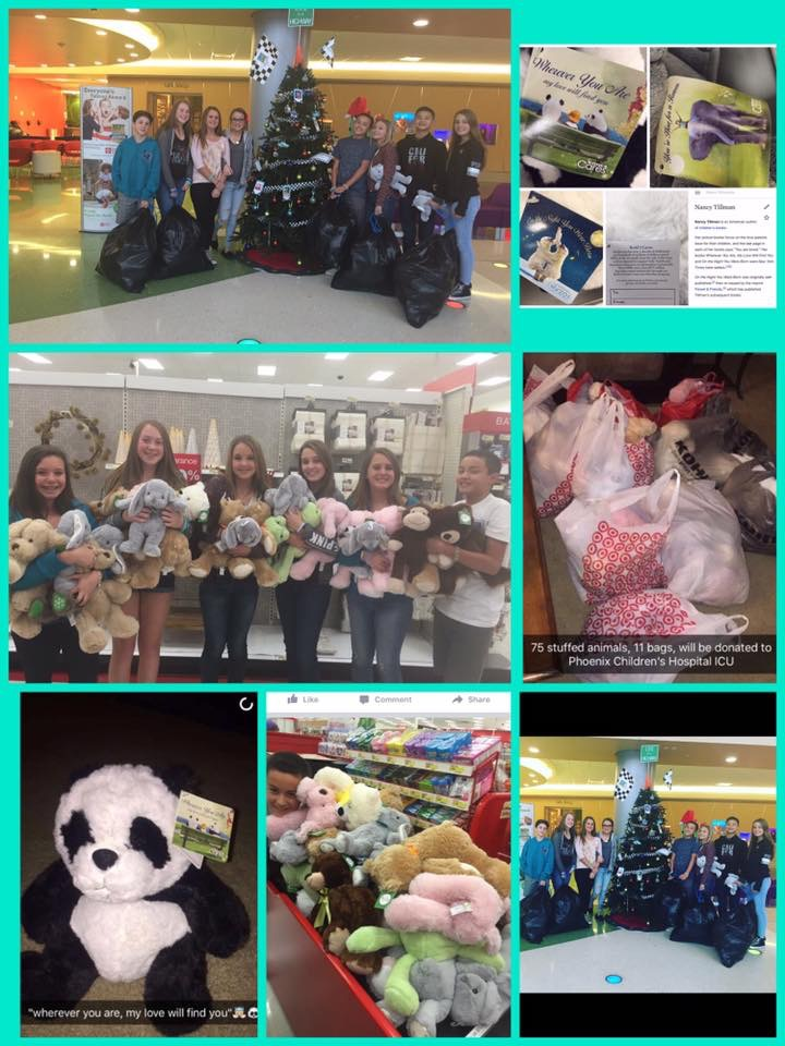 Stuffed Animal Donation to ICU Floor of Phoenix Children's Hospital December 2015