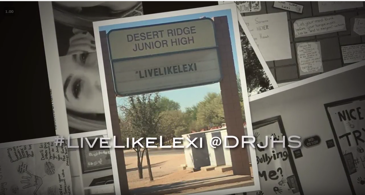 Desert Ridge Junior High School Presents Bully Awareness #LiveLikeLexi Day